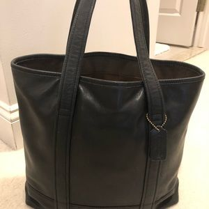 Coach Black Leather tote